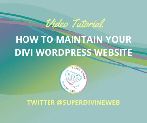 How to maintain your Divi WordPress website