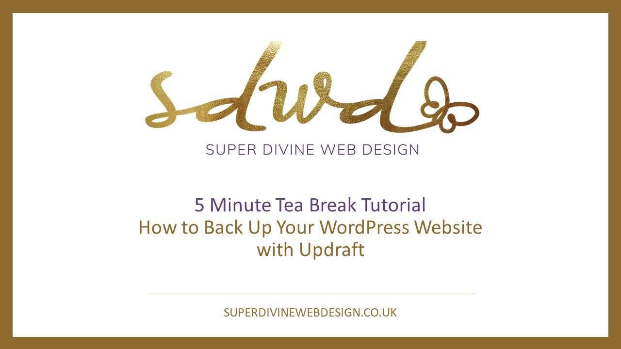 How to back up your website