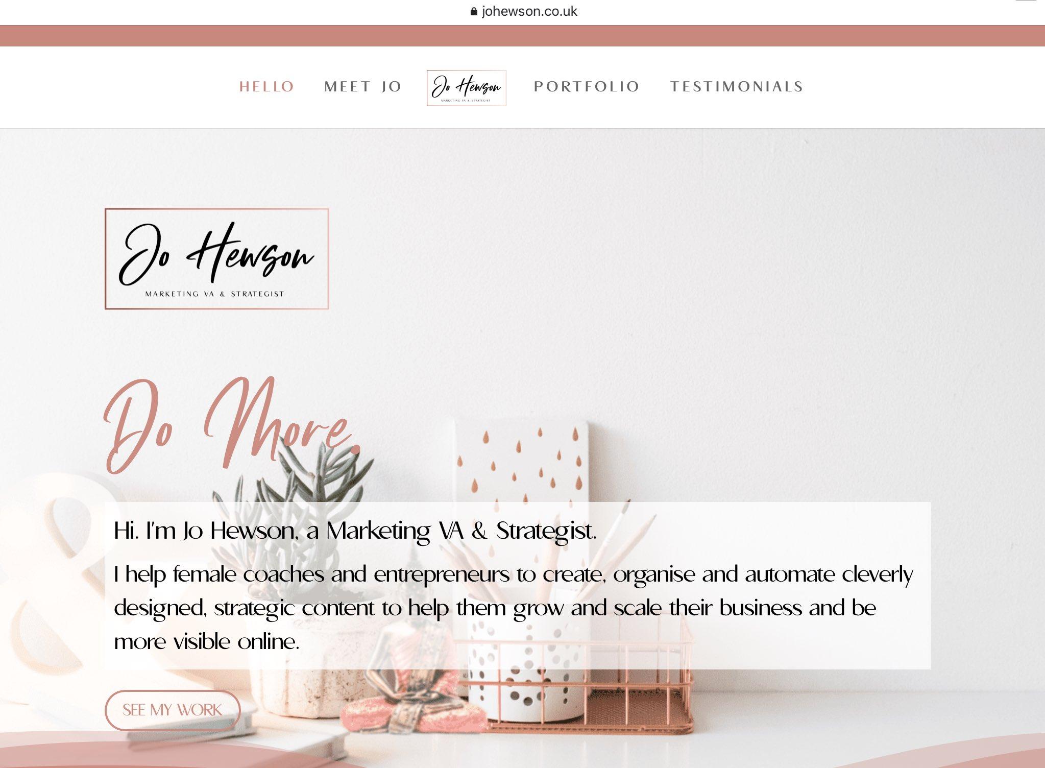 jo-hewson-marketing-va-new-divi-website