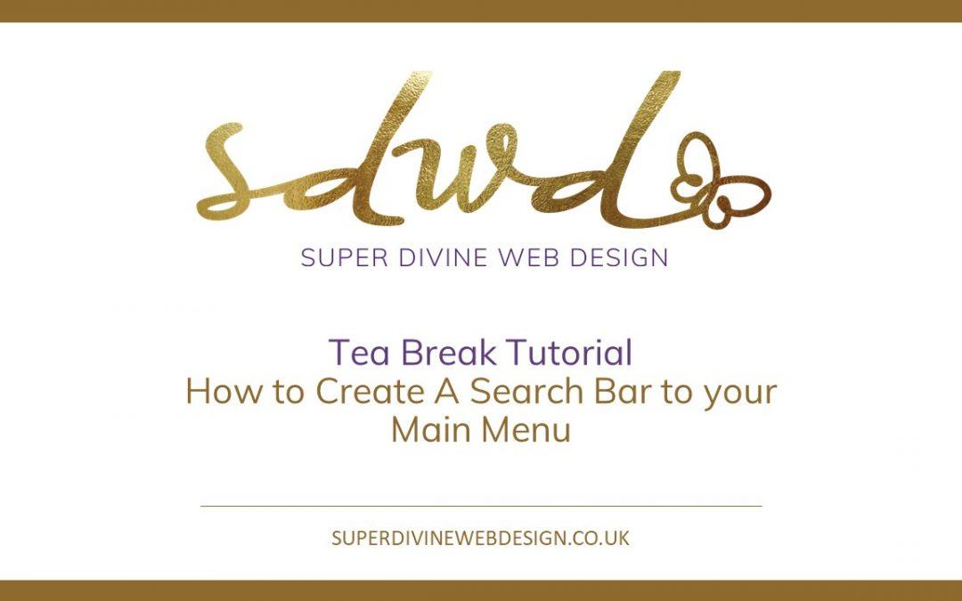 Add a search bar & button to your divi main menu