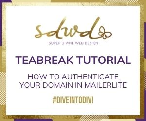 Teabreak tutorial: how to authenticate your domain in mailerlite