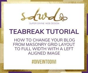 How to change your blog from masonry grid layout to full width with a left aligned image